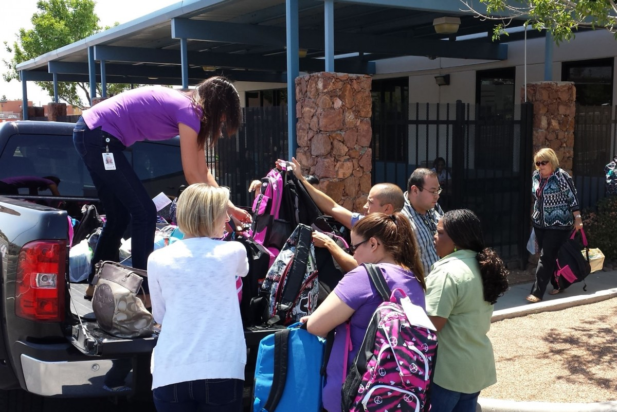 Backpacks donated to La Posada Home