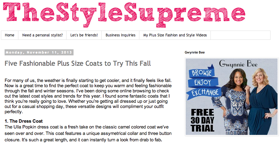 The Style Supreme blog