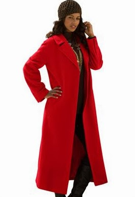 Classic Long Wool Blend Coat from Roaman's